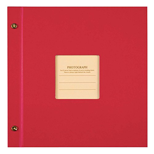 SEKISEI アルバム ポケット ハーパーハウス ましかくアルバム フレーム 80枚収容 51~100枚 レッド XP-8910