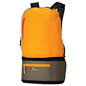 【国内正規品】Lowepro 2WAYカメラバッグ 折りたたみリュック+ウエストバッグ パスポートデュオ 3.3L オレンジ/マイカ 370236