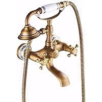 電話風呂の蛇口増圧噴出を手にした花こぼれ全銅簡易シャワーセット,a