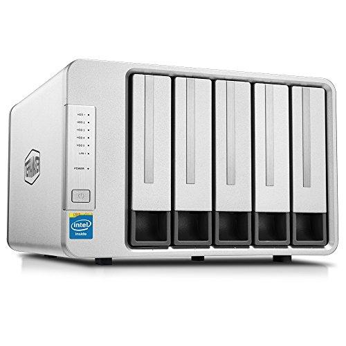 TerraMaster F5(F5-220) 5ベイ NAS 2.4GHz intelデユアルコア2GBメモリ スマホ/タブレット対応 RAID1/RAID0/JBOD/Single搭載 (HDD付属なし) ギガネットインターフェース ネットワークhdd 60TB