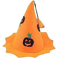 3つの不織布ハロウィン帽子魔法のカボチャの魔女の帽子のセット