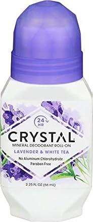 Crystal Mineral Deodorant Roll-On, Lavender & White Tea 2.2