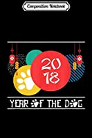 Composition Notebook: Year Of The Dog Chinese New Year 2018 Paw Fireworks Journal/Notebook Blank Lined Ruled 6x9 100 Pages