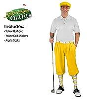 メンズselect-a-styleゴルフKnicker Outfit–イエロー 38