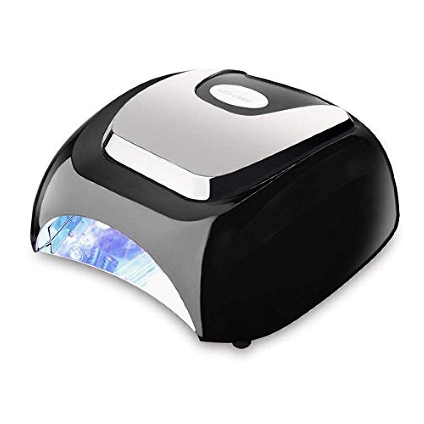 アラーム負作物ネイルドライヤー48ワットネイルドライヤーホワイトLED乾燥ネイルジェルポリッシュ機器マニキュアサロンネイルアートツールオートセンサーネイルワニスランプ、画像としての色