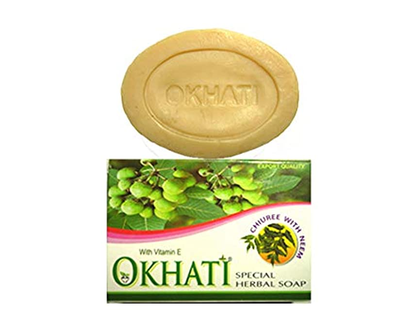 失うコイル自分オカティ チウリ ニーム ソープ 100g AYURVEDEC OKHATI CHIUREE(CHYUREE) WITH NEEM SOAP/NEPAL HIMALAYA SOAP ヒマラヤ石鹸