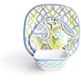 Waverly Waves Bluebell 12-Piece Dinnerware Set
