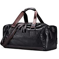 SODIAL Vintage Handbags Men's Casual Tote for Men Large-Capacity Portable Shoulder Bags Men's Fashion Travel Bags Package Black