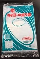 【ポリ袋】 中川製袋化工 タイヨーのポリ袋 0.08 No.15 1000枚