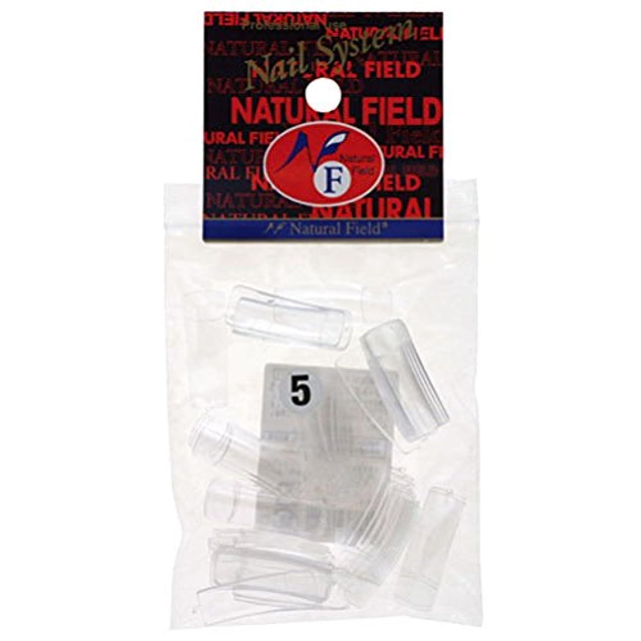 アルファベット順冒険気付くNatural Field ネイルチップ クリアスクエア(フル)No. 5 50P レフィル