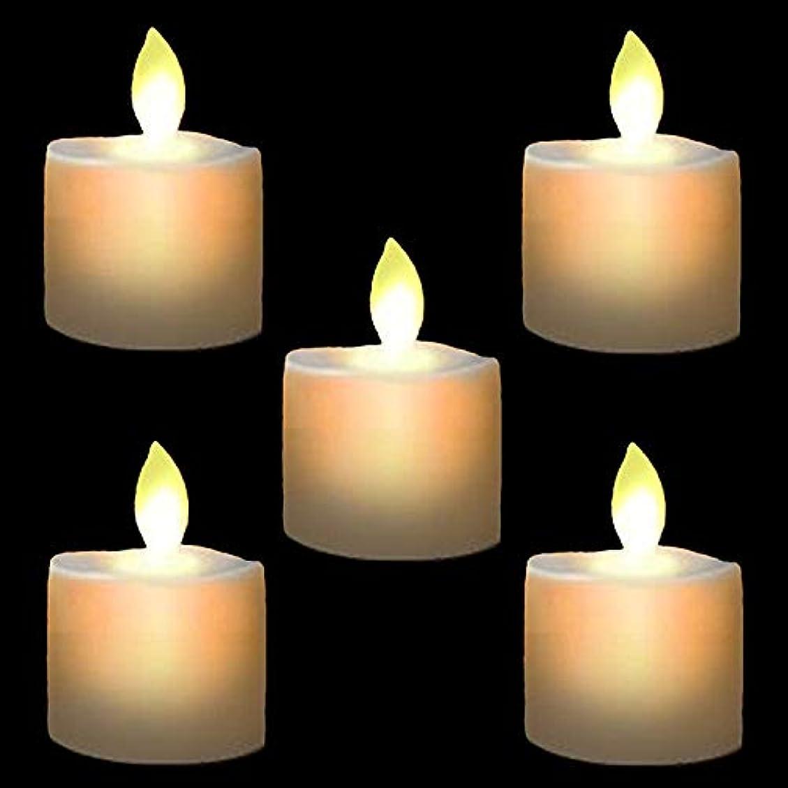 未満光の量LEDテーパキャンドル、電池式withタイマーワックスDripped AmberちらつきFlameless Candle向かっバルクの感謝祭& christmas-setの12