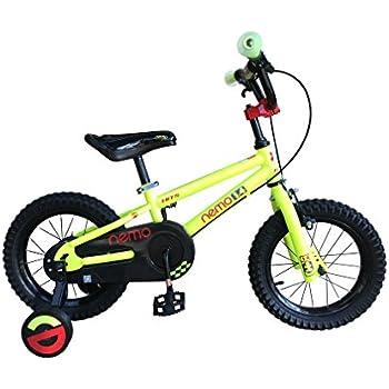HITS(ヒッツ) Nemo 子供用 自転車 児童用 バイク 12インチ 小さなお子様も運転しやすいハンドブレーキモデル 男の子にも女の子にもぴったり 2歳 3歳 4歳(イエロー)