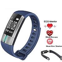スマートな腕時計のブレスレットのブルートゥースの腕時計IP67は水泳の腕時計iOSのアンドロイドの電話を防水します,Blue