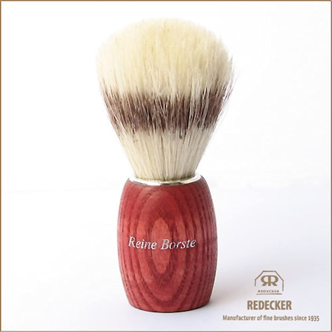袋入射エレガント[REDECKER/レデッカー]シェービングブラシ(白豚毛)/RED