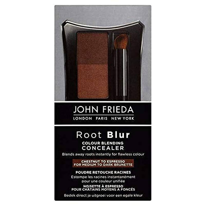 数学的なグリット六分儀[John Frieda ] 90グラムのエスプレッソするコンシーラー栗をブレンドジョン?フリーダルートぼかし色 - John Frieda Root Blur Colour Blending Concealer Chestnut...