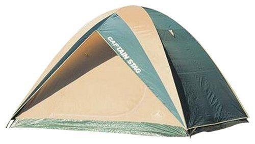 キャプテンスタッグ(CAPTAIN STAG) テント プレーナドームテント M-3102 ドーム型 5~6人用 PU・防水加工 シームレス加工 キャリーバッグ付き グリーン