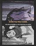 Coloring Book &Poster Collection: Kimetsu No Yaiba Premium Metal Of Demon Slayer Anime &Manga