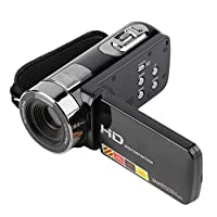 Pleasurehopeのポータブル270度回転可能な3.0インチ1080P 16Xズーム24MPデジタルビデオカメラビデオカメラDV HDX301