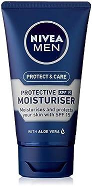 NIVEA MEN Protect & Care Face Moisturiser, with Aloe Vera, Provitamin B5 & SP