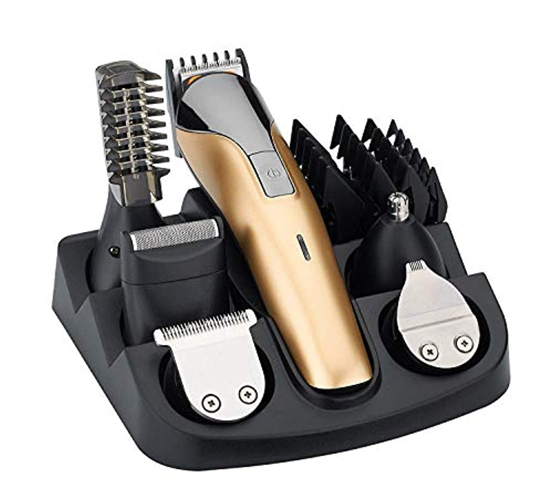 バリカン男性電気かみそりのひげのトリマー、かみそりの鼻の盲目の角度のトリマーの美容師セット多機能電気バリカンバリカン