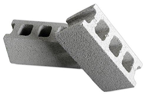 久保田セメント工業 コンクリートブロック チービー ヨコ グレー 4個入り 1007520GRY(4P)