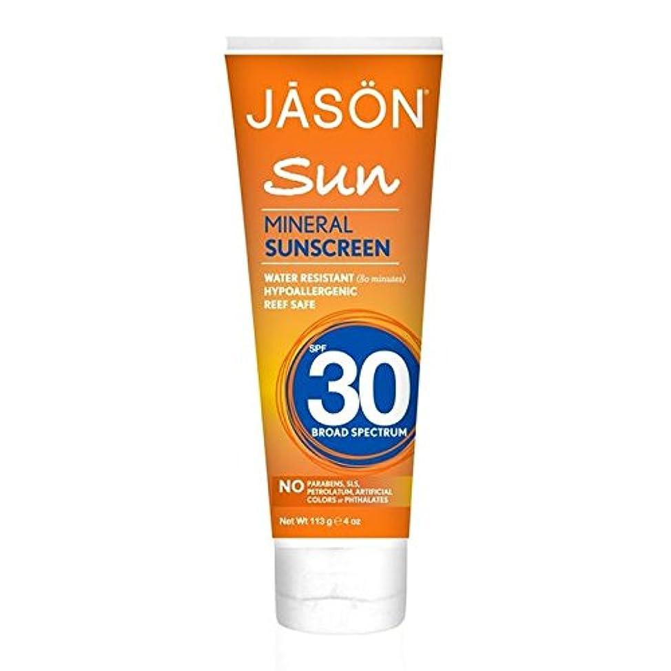 Jason Mineral Sunblock SPF30 113g (Pack of 6) - ジェイソン?ミネラル日焼け止め30の113グラム x6 [並行輸入品]
