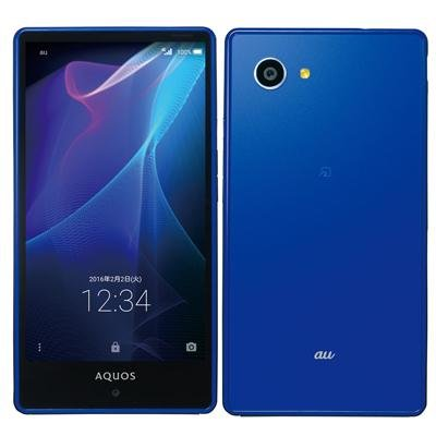 SHARP au AQUOS SERIE mini SHV33 サファイア