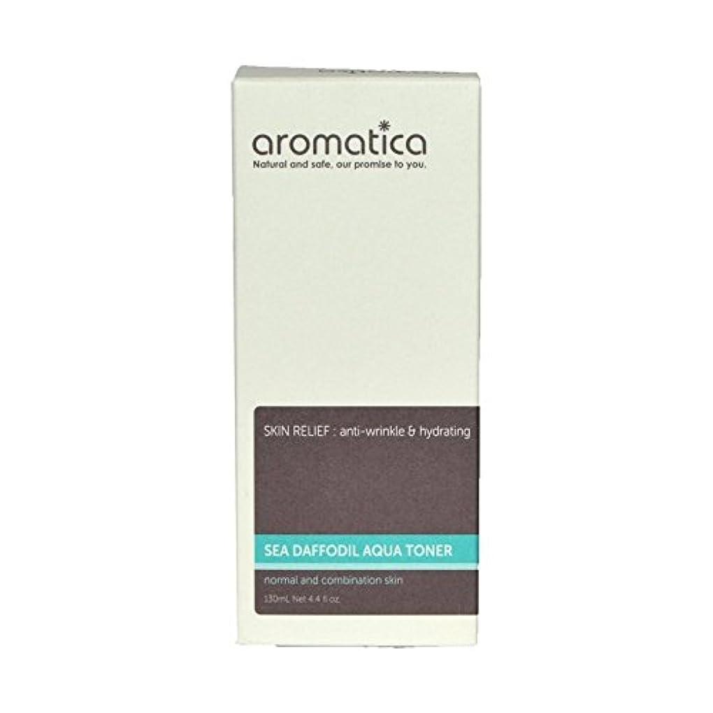 噴水悪名高い家事をする海スイセンアクアトナー130ミリリットル x4 - aromatica Sea Daffodil Aqua Toner 130ml (Pack of 4) [並行輸入品]