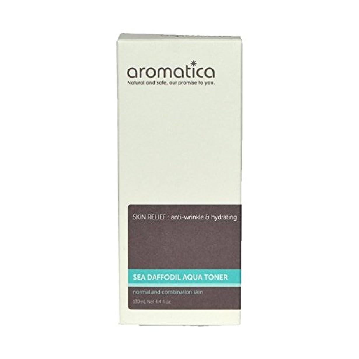目指す国民読みやすい海スイセンアクアトナー130ミリリットル x4 - aromatica Sea Daffodil Aqua Toner 130ml (Pack of 4) [並行輸入品]