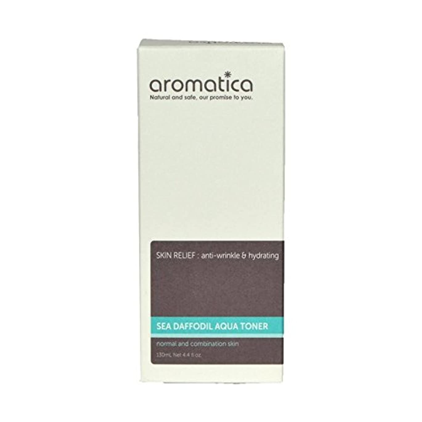 ウッズ漏れ冊子海スイセンアクアトナー130ミリリットル x4 - aromatica Sea Daffodil Aqua Toner 130ml (Pack of 4) [並行輸入品]
