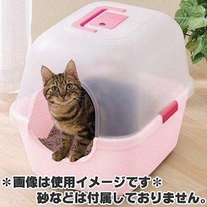 アイリス 固まる猫砂専用 脱臭ペットトイレ E-510N さくらピンク