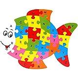 POOM木製動物象恐竜 ABC アルファベット学習 3D パズルジグソーパズル知能ゲーム子供のためのおもちゃ # YL1パズル 知育