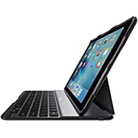 Belkin QODE Ultimate Lite - Keyboard and folio case - Bluetooth - black keyboard, black case - for Apple 9.7-inch iPad Pro, iPad Air 2