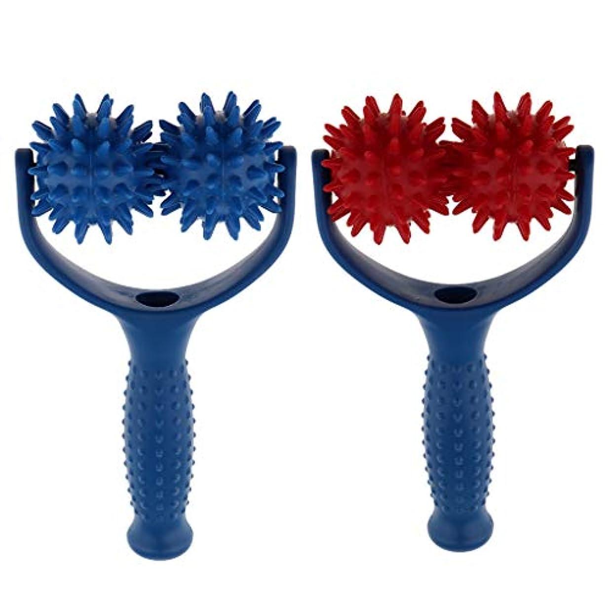 可愛い吸う達成する2個 マッサージボール ローラー ハンドヘルド 疲れ解消ボール 筋膜リリース 全身用 実用的