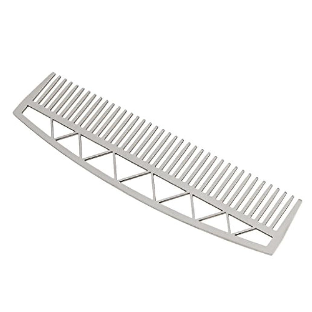 わかりやすいグリット処方する口ひげ ひげ櫛 メンズ ビアードコーム ヘアコーム ステンレス鋼 耐久性 耐熱性 2タイプ - #2