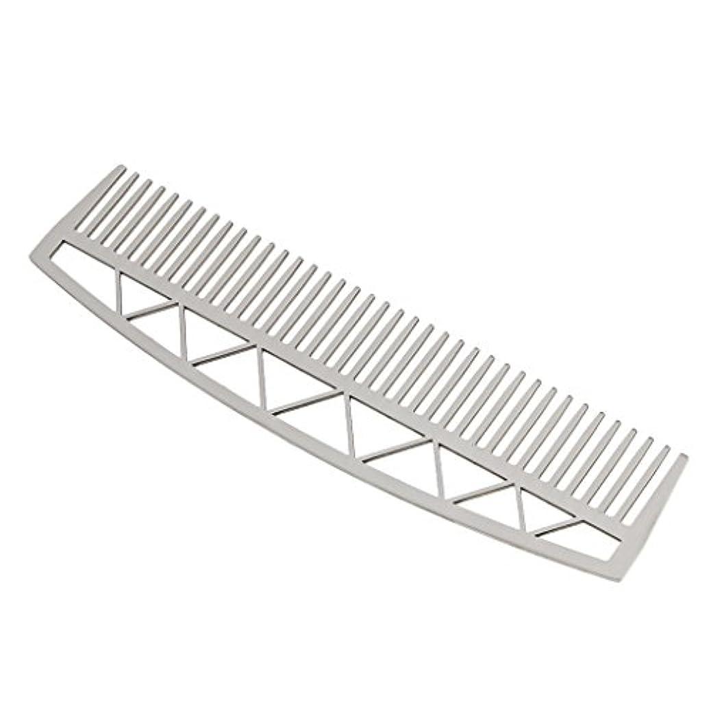 有名なガイドラインつかの間口ひげ ひげ櫛 メンズ ビアードコーム ヘアコーム ステンレス鋼 耐久性 耐熱性 2タイプ - #2