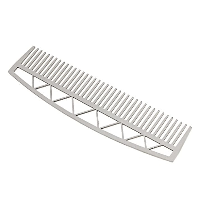 関数ゲージ決定する口ひげ ひげ櫛 メンズ ビアードコーム ヘアコーム ステンレス鋼 耐久性 耐熱性 2タイプ - #2