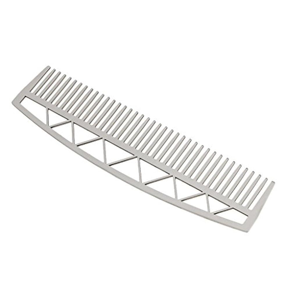 開始ゲート圧倒的口ひげ ひげ櫛 メンズ ビアードコーム ヘアコーム ステンレス鋼 耐久性 耐熱性 2タイプ - #2