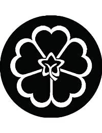 家紋シール 陰裏桜紋 布タイプ 直径40mm 6枚セット NS4-0229