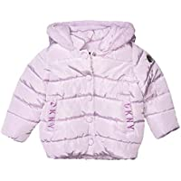 DKNY Baby Girls Puffer Jacket, snap Front Lavender