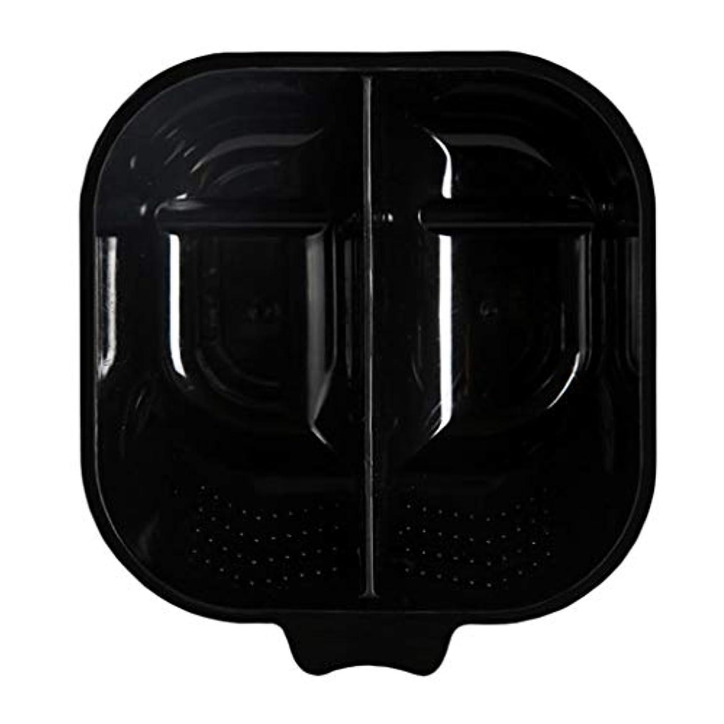 想像力デザイナー旅ヘアカラー 混合ボウル ヘアカラーボウル 髪染め プレート サロン ヘアダイミキシングボウル 全3色 - ブラック