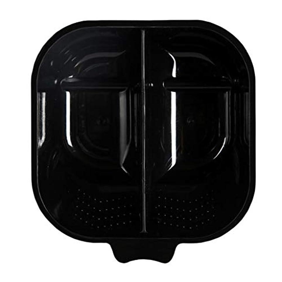 ヘアカラー 混合ボウル ヘアカラーボウル 髪染め プレート サロン ヘアダイミキシングボウル 全3色 - ブラック