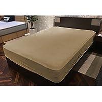 SLEEP SELECT(スリープセレクト) 日本製 ボックスシーツ ダブルワイド パイル地 モカベージュ色 SXSSAN40DWMO