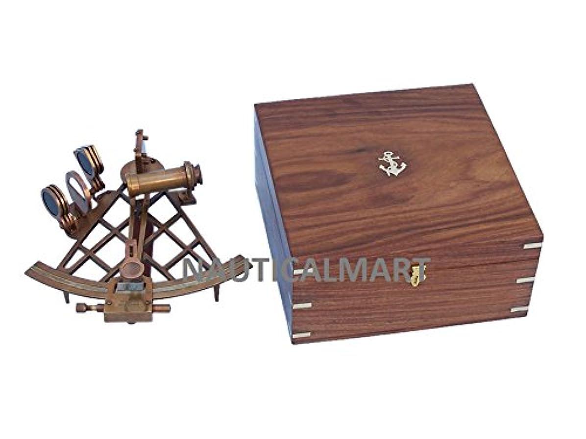 俳優ボクシング比較的Admiral 'sアンティーク真鍮六分儀12