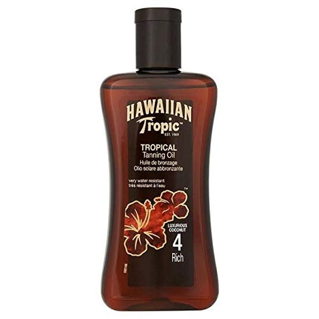 [Hawaiian Tropic ] 南国ハワイ専門の日焼けオイルの豊富な4 200ミリリットル - Hawaiian Tropic Professional Tanning Oil Rich 4 200ml [並行輸入品]