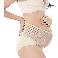 妊婦帯 産前産後マタニティベルト 腹帯としてダブルベルト 骨盤 恥骨や腰の負担をしっかりサポート (ヌード色, 110cm)