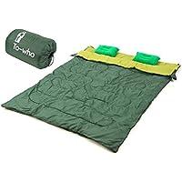 【To-who】 寝袋 封筒型 軽量 アウトドア 登山 車中泊 シュラフ キャンプ 二人用 大きい バンガロー