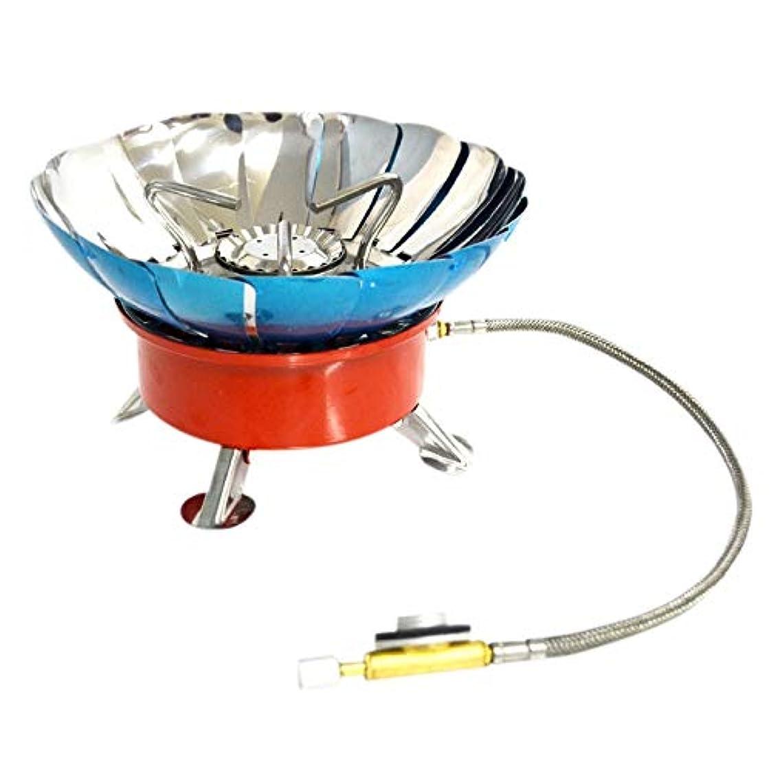 疼痛ソーシャル超高層ビルNrpfell 4タイプ 防風ストーブ 炊飯器 調理器具ガスバーナー キャンプ用ピクニッククックアウトバーベキューD