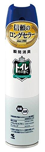 トイレその後に 消臭芳香剤 トイレ用 フレッシュグリーン スプレータイプ280ml