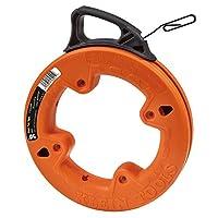 Klein Tools 56001 フィッシュテープ 50フィート スチール製 高耐久ワイヤー 引き手に最適 コンジット測定用レーザーエッチング(再生)